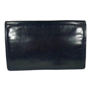 Vintage Navy Bottega Veneta Clutch